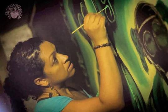 Yasmin painting CucubaNación