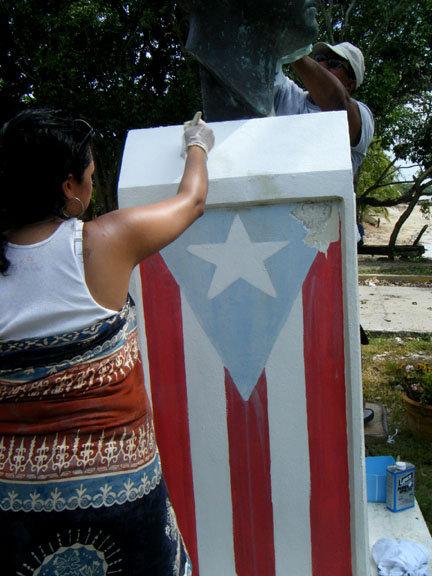 Restoring Angel Cristobal's bust