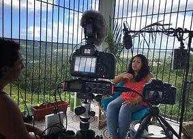 Resilencia documentary shoot, featuring Yasmin Hernandez by Taina Asili