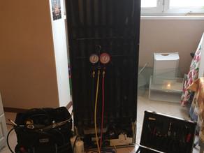 Ремонт холодильника LIEBHERR устранение утечки по локрингу.