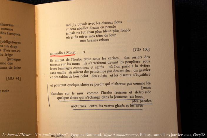 Jacques Roubaud, Signe d'appartenance