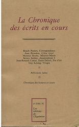 renaud camus et denis duvert la chroniques des écrits en cours n° 2, 1982 fin d'été chemins de fin d'été