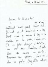 Lettre à Madeleine Chapsal