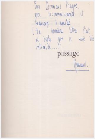 Renaud CamuBernard Pragues (1946), Passage, Flammarion