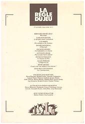 la regle du jeu bernard henri levy renaud camus inventaires pour roland barthes 1990