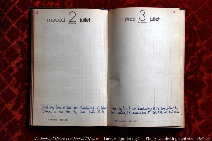 2 & 3 juillet 1975
