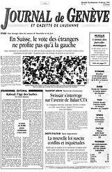 journal de geneve 1995 renaud camus fait l'éloge du temps libre qu'il n'y a pas de probleme de l'emploi pol