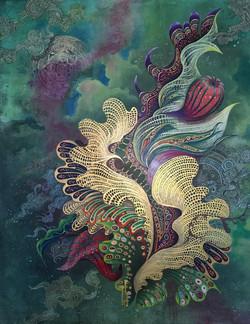 La femme / 40×50in Acrylic on canvas