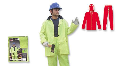 Conjunto Industrial • Pantalón Cintura Elástica • PVC/Poliéster • Amarillo Neón