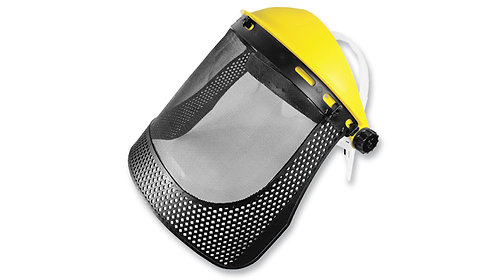 Careta de Protección Facial con Malla Metálica y Refuerzo •con ratchet