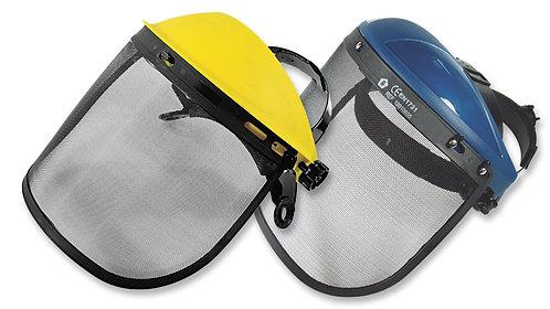Careta de Protección Facial con Malla Metálica • Soporte ajustable, con ratchet.