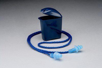 3M™ Tapones Auditivos 1291, de espuma, Con Cordón, Caja Plastica