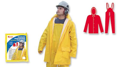Conjunto Industrial • Pantalón de Babero • Poliéster/PVC • Amarillo