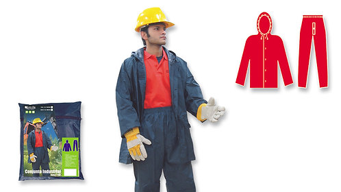 Conjunto Industrial • Pantalón Cintura Elástica • Nylon/PVC • Azul