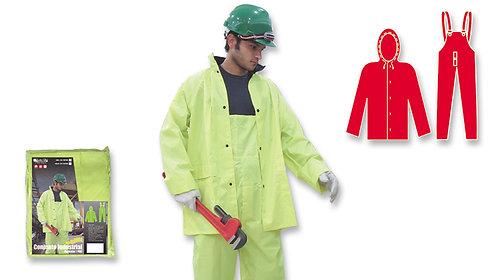 Conjunto Industrial • Pantalón de Babero • Poliéster/PVC • Neón