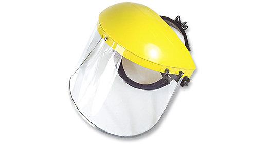 Careta de Protección Facial con Soporte Ajustable y Visor Claro,Borde de Alumino