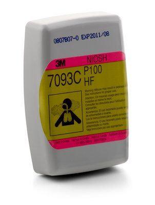 Cartucho/Filtro Fluoruro de hidrógeno 7093CB, P100,Vapores Orgánicos y Gas Acido