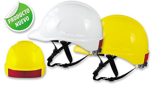 Casco de Seguridad Tipo Industrial-ALTA VISIBILIDAD-Tafilete de 6 apoyos.