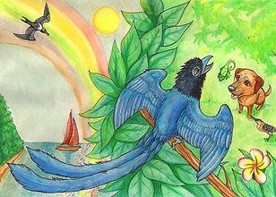 Front back cover traditional media  watercolour artist art illustration illustrator uk nottingham derbyshire childrens fanasty fiction book