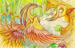 Bird Dance Traditional Media Watercolour Markers Pencils