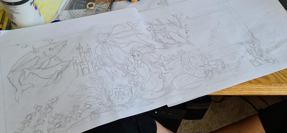 Front back cover traditional media watercolour artist art illustration illustrator uk nottingham derbyshire childrens fantasy fiction book mural childrens murals custom derby nottinghamshire hand painted blog