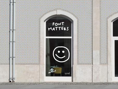 FONT MATTERS!