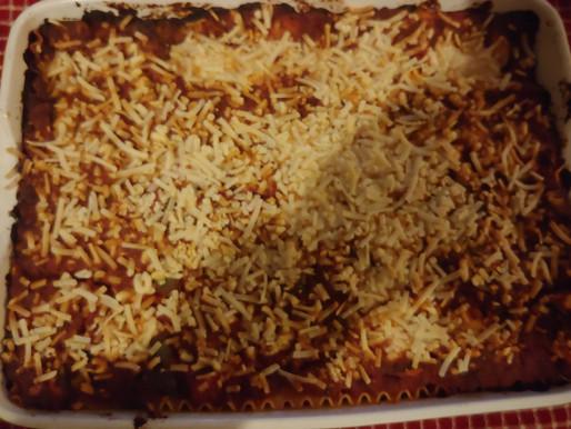 Vegan Lasagna (Using Nafsika Mozza and Beyond Meat Ground Beef)