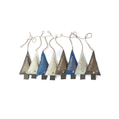 Christmas Ornaments (White/Blue/