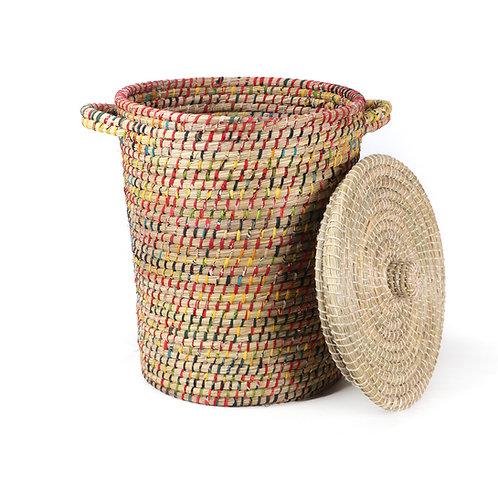 Hogla & Recycled Sari Basket