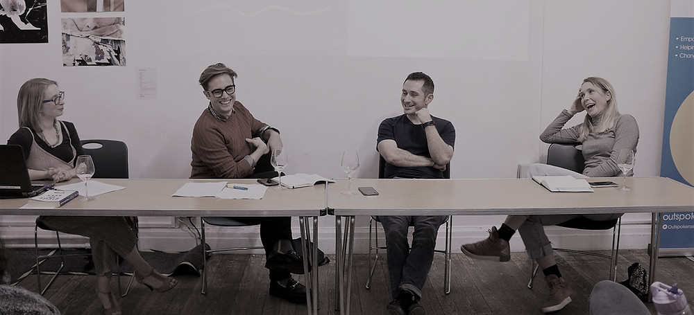 From left: chair Sophie Manning and panellists Mark Smith, Jonny Hunt and Ida Bruusgaard
