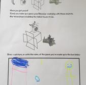Completed dinosaur worksheets
