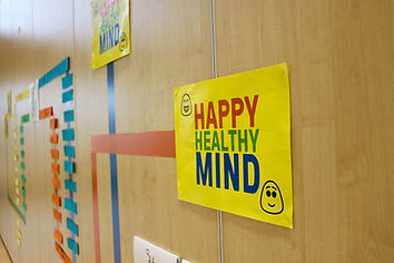 Happy Healthy Mind Map on Wall