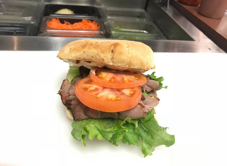 Try Our Roast Beef Ciabatta Sandwich