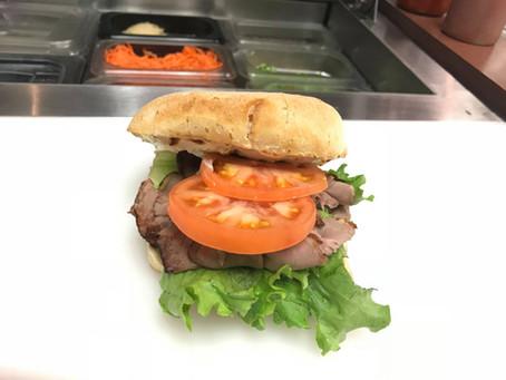 Try Our Roast Beef Ciabatta Sandwich