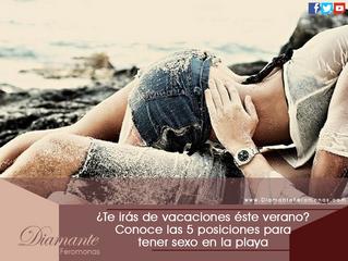 ¿Te irás de vacaciones éste verano? Conoce las 5 posiciones para tener sexo en la playa: