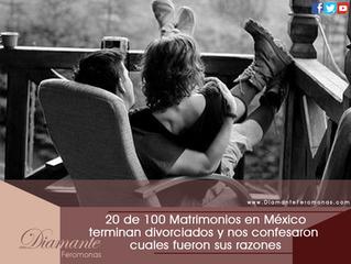 20 de 100 Matrimonios en México terminan divorciados y nos confesaron cuales fueron sus razones:
