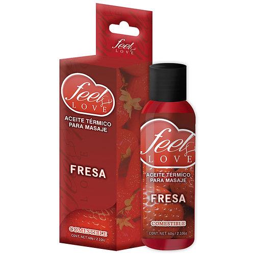 Aceite Térmico Feel Love FRESA 60ml