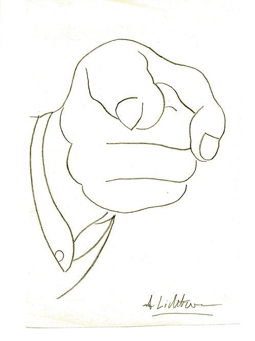 """""""Finger Pointing"""" Sketch x Roy Lichtenstein"""