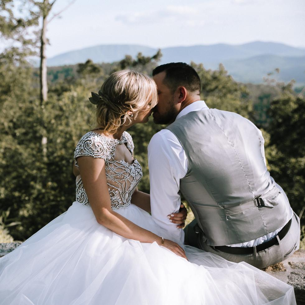 Charlotte Fort Mill Rock Hill Asheville Wedding Photographer Jump Off Rock Hendersonville NC