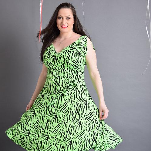 שמלת פריס נמרה ירוקה