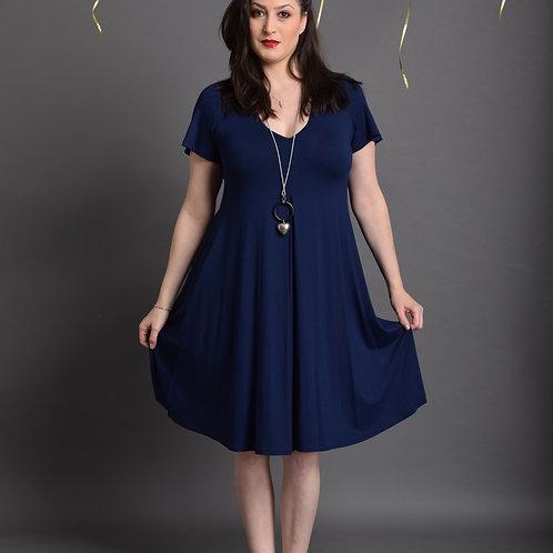 שמלת איריס כחולה