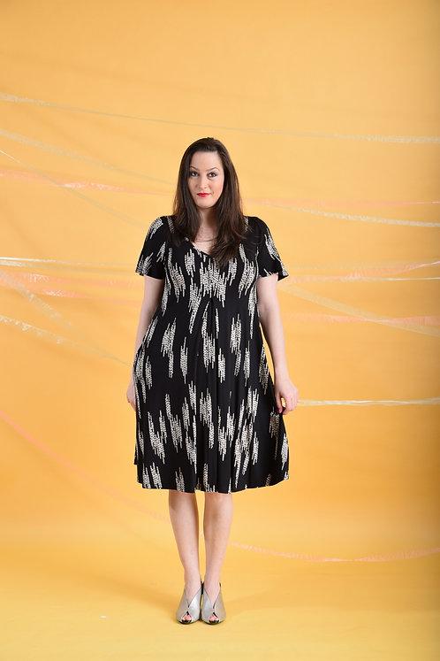 שמלת איריס שחור דוגמא