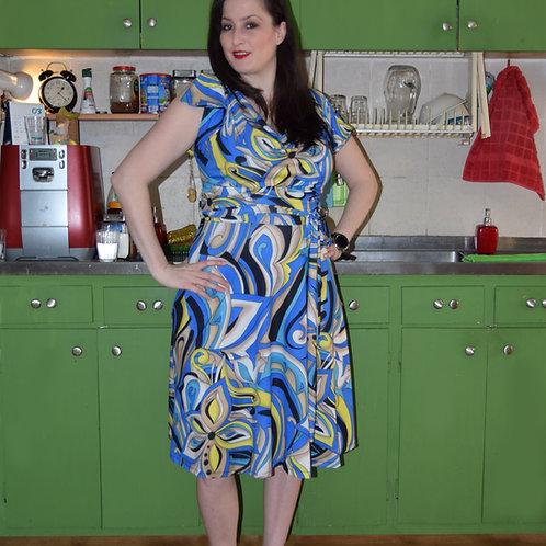 שמלת פריס כחול דוגמא