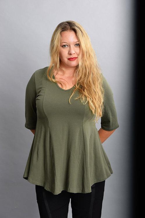 חולצת אנג׳לה זית