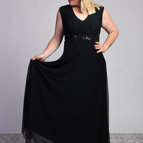 שמלת ערב רוני מקסי ללא שרוולים