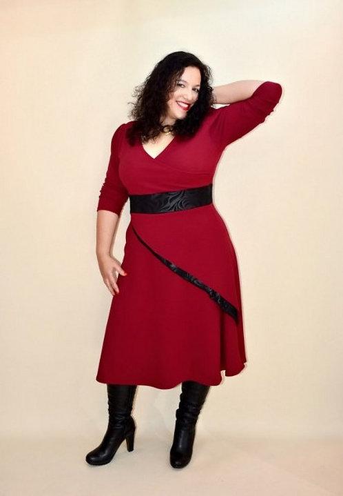 שמלת מם בורדו