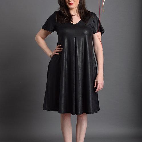 שמלת איריס שחור מבריק