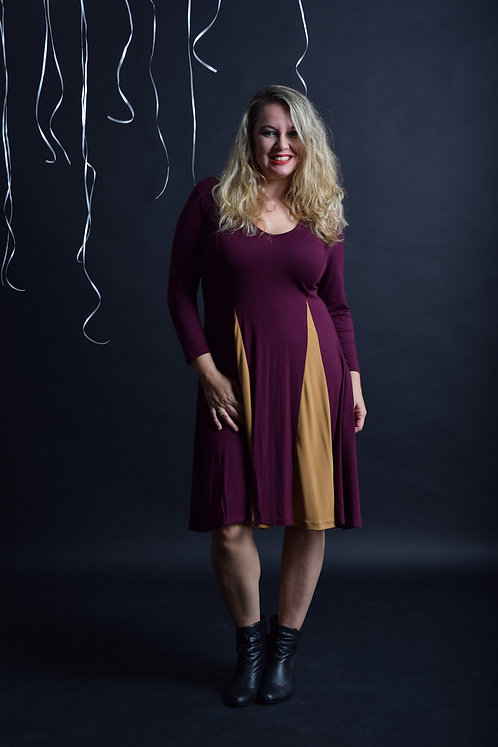שמלת אנג'לינה חציל חרדל