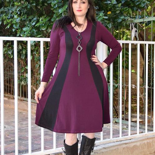 שמלת שמש חורפית סגולה