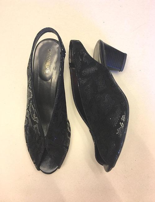 נעלי שאנל שחור נחש